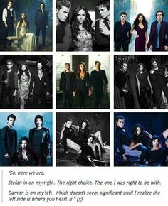 I doubt tha's why Damon is always to her left and Stefan is always to the right but I still think that's cute