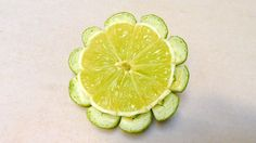 Simple And Easy Lime Button Flower - Beginners 65 By Mutita Art Of Fruit...