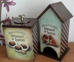 Чайный домик и короб для сладостей. Декупаж.