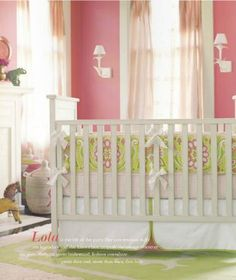 Preppy Little Girl's Nursery - by Serena & Lily