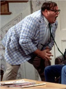 """Chris Farley on SNL """"THe Van down by the River"""" ...""""Motivational Speaker""""...so funny he was."""