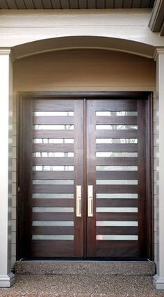 Modern_Slat - modern - front doors - st louis - The Scobis Company