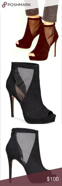 Gorgeous brand new peep toe Brand new, peep toe, very chic and sexy ankle shoes. Aldo Shoes Ankle Boots & Booties