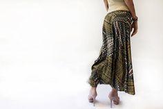 Free shipping Safari Maxi Skirt by MikiBeFashion on Etsy, $75.00