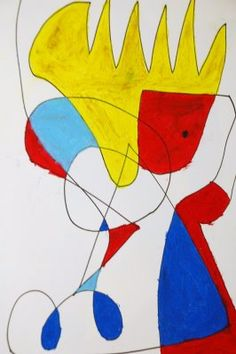 Miro Art lesson for Elementary School aged children