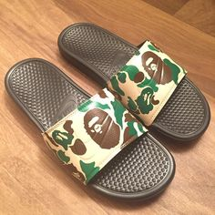 Custom bape slippers
