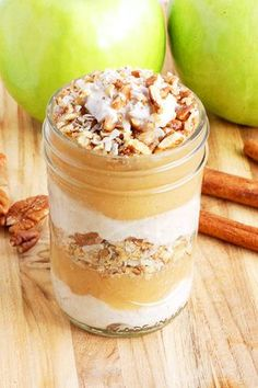 Paleo Apple Pie Parfaits (Apple Pie in a Jar)- and it is healthy! Yum.