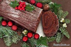 Tronco de Navidad de chocolate #Navidad #RecetasparaNavidad #RecetasNavideñas #CenadeNavidad #CenadeNocheVieja #CenadeNocheBuena #PostresdeNavidad