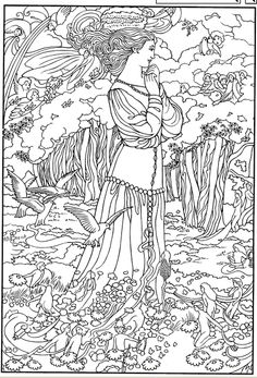this page is cleaner and larger then the first post color your own victorian fairy paintings coloring book dover publications - Dover Coloring Books For Adults