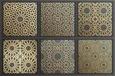 Buy Gold Islamic Seamless Pattern Set 1 by on GraphicRiver. by DamienGeso in Graphics Patterns Gold Islamic Seamless Pattern Set 1 – Patterns Gold Islamic Seamless Pattern Set Islamic Motifs, Islamic Art Pattern, Arabic Pattern, Persian Motifs, Pattern Art, Metal Flower Wall Art, Metal Wall Art, Motif Oriental, Oriental Design