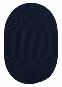"""Boca Raton Navy Rug Rug Size: Oval 9' x 12' by Colonial Mills. $523.00. BR52R108X144 Rug Size: Oval 9' x 12' Features: -Technique: Braided.-Material: 100pct Polypropylene.-Origin: USA.-Reversible.-Stain resistant.-Fade resistant. Construction: -Construction: Hand guided. Dimensions: -Pile height: 0.5"""".-Overall Dimensions: 34-168'' Height x 22-132'' Width. Collection: -Collection: Boca Raton."""