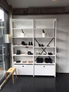 Havianias Grey Lynn Store. Auckland Lundia Static shelving + storage boxes on castors