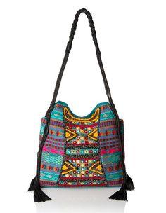 Big Buddha Briella Bohemian Crossbody Bag with Tassel Details