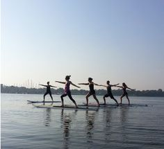 Yogata. Vinyasa yoga on a paddle board. Yeah I'll get right on that.