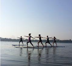 Yogata. Vinyasa yoga on a paddle board. Yeah I'll get right on that.
