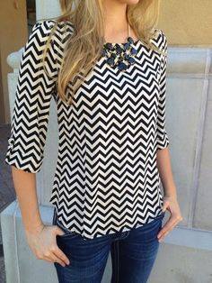 Stylish Chevron Blouse