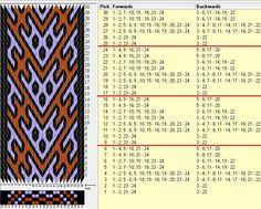 24 tarjetas, 3 colores, repite cada 8 movimientos // sed_260a diseñado en GTT༺❁