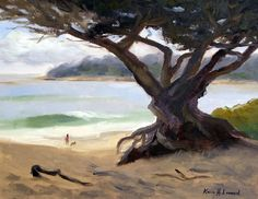 Sunday Afternoon Carmel Beach Painting  - Sunday Afternoon Carmel Beach Fine Art Print
