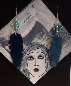 Handmade Jewellery, Pearls, Lace, Earrings, Leather, Jewelry, Ear Rings, Handmade Jewelry, Stud Earrings