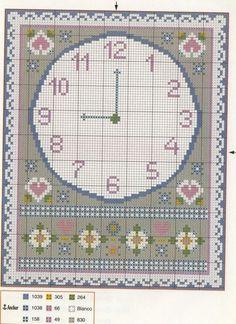 Schema punto croce Orologio Classico