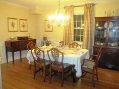 Elegant Feminine Dining Room Decorations