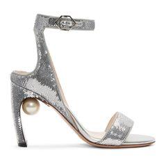 NICHOLAS KIRKWOOD | Silver Sequin Lola Pearl Sandals #Shoes #Heeled sandals #NICHOLAS KIRKWOOD