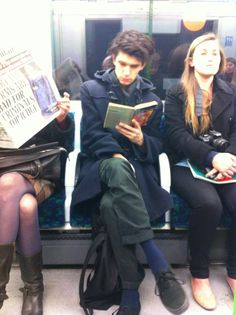 """wendygrewupafterall: """"I sat across from Ben Whishaw (aka the dude from Bright Star, Brideshead Revisited, Skyfall, The Hour, etc) on the Tube today and I tried not to outwardly freak out!!!! """" Poor darling - he can't even travel on public transport without someone taking sneaky photos of him."""