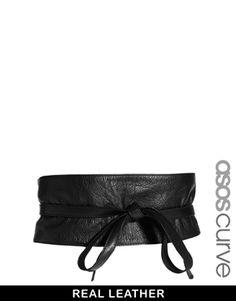 NEED, to go with rainbow skirt? ASOS CURVE Leather Obi Waist Belt