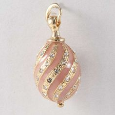 Faberge style Pendant Twisted Rose Austrian crystals - kod75p