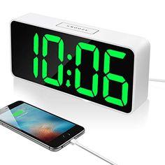 Led Alarm Clock, Digital Alarm Clock, Alarm Sound, Digital Thermometer, Power Outage, Large Clock, Phone Charger, Consumer Electronics, Usb