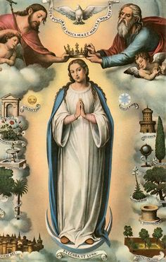The crowning of our Blessed Mother