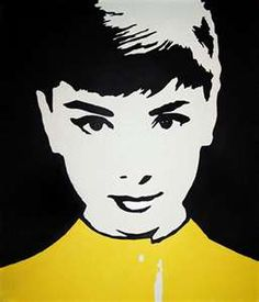 Audrey Hepburn by Andy Warhol  - It seems that many images with clean lines and flat colours such as these bear a timeless appeal. However it's this sort of simplicity that makes it easy to recreate.