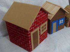 """kit casas """"os três porquinhos"""""""