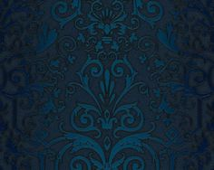 Versace Designer Barock Tapete Home Collection 935454 Jugendstil Vliestapete Vlies Tapete Barockmuster Türkis Blau