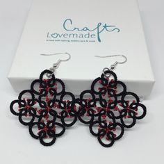 """Ohrringe """"Square"""" Square, Tatting, Crochet Earrings, Jewelry, Threading, Ear Piercings, Wristlets, Schmuck, Jewlery"""