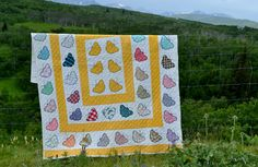 Butterfly Quilt, photographed in beautiful, amazing Waterton, Alberta