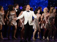 Neil Patrick Harris' ''We're out of time'' closing number - ''If I had time,'' the dapper host crooned, ''I'd say how Once won once, won twice, then Once won more, in fact it pretty much won everything but score...'