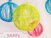 Yarn Chandeliers via Hostess with the Mostess.