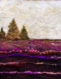 No499 Hillside Too  Needlefelt Art XLarge by Deebs on Etsy, $130.00