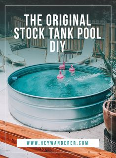 DIY Stock Tank Pool: Everything You Need To Know. DIY Stock Tank Pool: Everything You Need To Know backyard summer activities outdoor swim.
