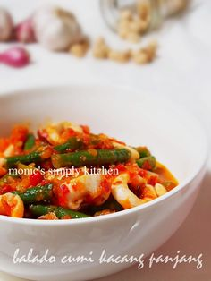 cumi balado Vegetables, Kitchen, Food, Cooking, Vegetable Recipes, Eten, Veggie Food, Kitchens, Meals