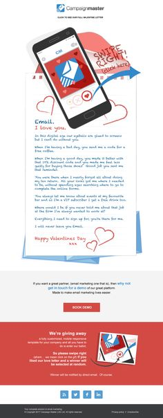 Cheeky Valentines email fun from the Campaigmaster team.