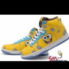 Kids Nikes Spongebob Squarepants Dunks High Comic Shoes ONLY $64.99 | Nike  Dunk Shoes for Kids | Pinterest | Spongebob squarepants and Spongebob