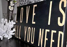 love is all you need. sugarboo decor.