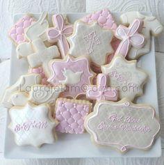 Baptism Cookie Platter (girl)
