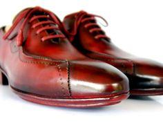 Handmade Classic Luxury Burgundy Shoes (Kensington) main image