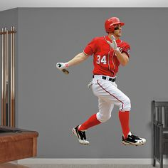 Bryce Harper - Away REAL.BIG. Fathead Wall Graphic | St. Louis Cardinals Wall Decal | Sports Home Decor | Baseball Bedroom/Man Cave/Nursery