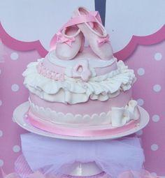 Shabby Chic Princess Tea Party / Birthday Party via Kara's Party Ideas - www. Ballerina Birthday Parties, Ballerina Party, Tea Party Birthday, 4th Birthday Parties, Girl Birthday, Birthday Ideas, Birthday Sweets, Happy Birthday, Birthday Cake