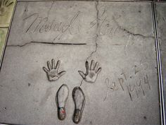 Meryl's foot and hand prints at Grauman's Chinese Theater