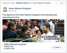 India National Congress sponsored post